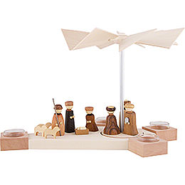 1 - Tier Pyramid Octogonum  -  Nativity  -  23cm / 9.1 inch