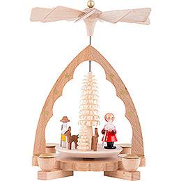1 - Tier Pyramid  -  Santa Claus  -  19cm / 7 inch