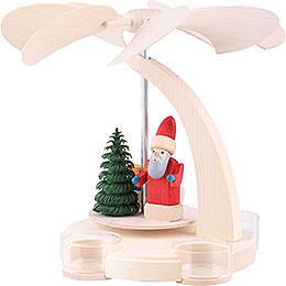 1 - Tier Pyramid  -  Santa with Sled  -  18cm / 7 inch