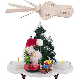 1 - stöckige Pyramide Weihnachtsmann mit Schlitten  -  19,5cm