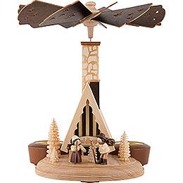 1 - stöckige Räucherpyramide Waldhaus  -  26cm