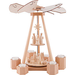 2 - Tier Pyramid Nativity  -  39cm / 15.4 inch