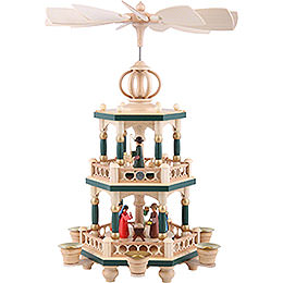 2 - Tier Pyramid  -  The Christmas Story  -  40cm / 16 inch
