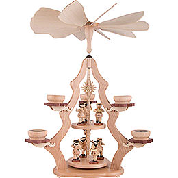 2 - Tier Pyramid with Angels  -  47x37x37cm / 18.5x14.5x14.5 inch