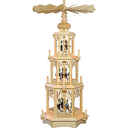 3 - Tier Christmas Pyramid  -  Miners  -  105cm / 41 inch