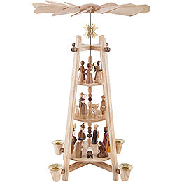 3 - Tier Pyramid  -  Nativity Scene  -  44cm / 16 inch