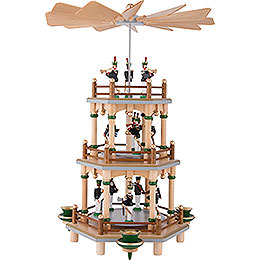 3 - Tier Pyramid with Miners Parade  -  35cm / 13.8 inch