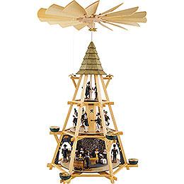 3 - stöckige Pyramide mit Göpel, Mettenschicht  -  70cm