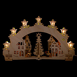 3D Candle Arch  -  Christmas Market  -  52x32cm / 20.5x12.6 inch
