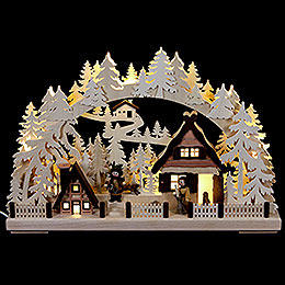 3D Candle Arch  -  Christmas Preparations  -  43x30cm / 17x12 inch
