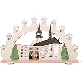 3D Candle Arch  -  Martin Luther in Wittenberg  -  66x41x6cm / 26x16x3 inch