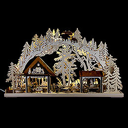 3D - Doppelschwibbogen Kunsthandwerkerhaus  -  72x43cm