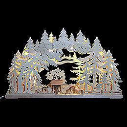 3D Double Arch  -  Deer in the Woods  -  72x43x8cm / 28x17x3 inch