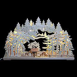 3D - Schwibbogen Rehe im Wald  -  72x43x8cm