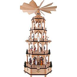 4 - stöckige Pyramide Christi Geburt mit Musikspielwerk  -  70cm