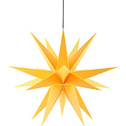 Advents Star for Inside and Outside Use, Yellow  -  60cm / 23.6 inch