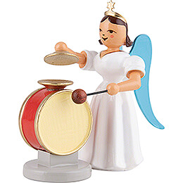Angel Long Pleated Skirt Cymbal Drum, Colored  -  6,6cm / 2.6 inch