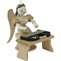 Angel Long Skirt with Zither Bench, Natural  -  6,6cm / 2.6 inch