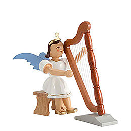 Angel Short Skirt Colored, Harp Sitting  -  6,6cm / 2.6 inch