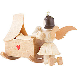 Angel Short Skirt Natural, Cradle and Kneeling Angel  -  6,6cm / 2.6 inch