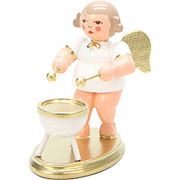 Angel White/Gold with Bass Drum  -  6,0cm / 2 inch