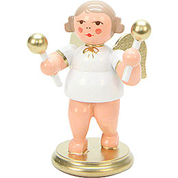 Angel White/Gold with Maraca  -  6cm / 2 inch