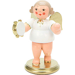 Angel White/Gold with Tamburine  -  6,0cm / 2 inch