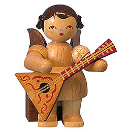 Angel with Balalaika  -  Natural Colors  -  Sitting  -  5cm / 2 inch