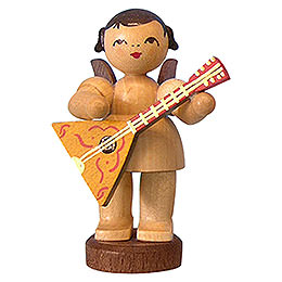 Angel with Balalaika  -  Natural Colors  -  Standing  -  6cm / 2,3 inch