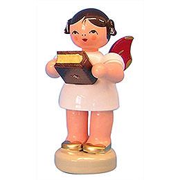Angel with Bible  -  Red Wings  -  Standing  -  6cm / 2,3 inch
