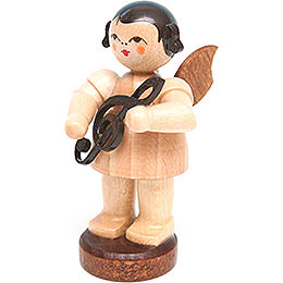 Angel with Clef  -  Natural Colors  -  Standing  -  6cm / 2.4 inch