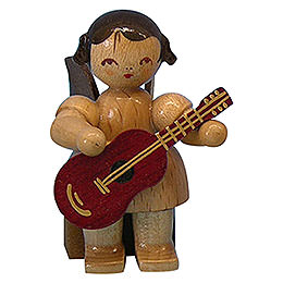 Angel with Guitar  -  Natural Colors  -  Sitting  -  5cm / 2 inch