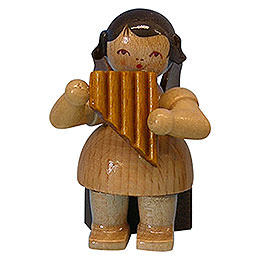 Angel with Panpipe  -  Natural Colors  -  Sitting  -  5cm / 2 inch