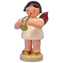 Angel with Trumpet  -  Red Wings  -  Standing  -  9,5cm / 3,7 inch