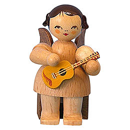 Angel with Ukulele  -  Natural Colors  -  Sitting  -  5cm / 2 inch
