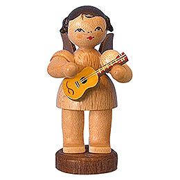 Angel with Ukulele  -  Natural Colors  -  Standing  -  6cm / 2,3 inch