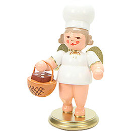 Baker Angel with Basket  -  7,5cm / 3 inch