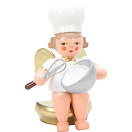 Baker Angel with Eggbeater  -  7cm / 3 inch