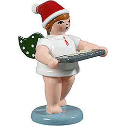 Baker Angel with Hat and Baking Tray  -  6,5cm / 2.5 inch