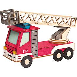 Bastelset Rauchhaus Feuerwehrauto  -  15cm