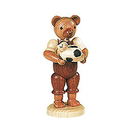Bear with Cat  -  10cm / 4 inch