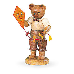 Bear with Kite  -  10cm / 4 inch