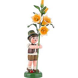 Blumenkind Junge mit Lilie  -  24cm