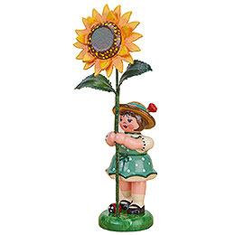 Blumenkind Mädchen mit Sonnenblume  -  11cm