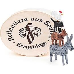 Bremer Stadtmusikanten in Spandose  -  5cm