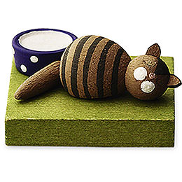 Brown Cat, Sleeping  -  1cm / 0.5 inch