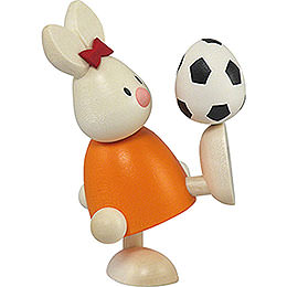 Bunny Emma with Football  -  9cm / 3.5 inch
