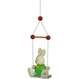 Bunny Max on Swing  -  9cm / 3.5 inch