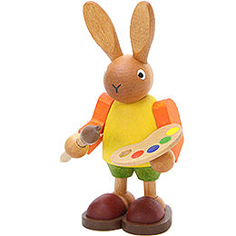 Bunny with Painter's Palette  -  8,5cm / 3.3 inch