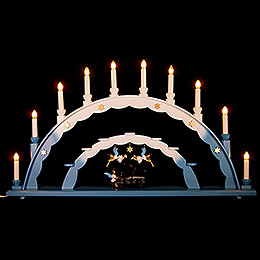 Candle Arch  -  Angel at the Piano and Electric Lights and Three Angels  -  70x40cm / 27.5x15.7 inch